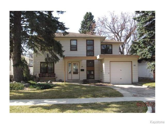 Main Photo: 48 Rupertsland Boulevard in Winnipeg: Single Family Detached for sale (Scotia Heights)  : MLS®# 1205369