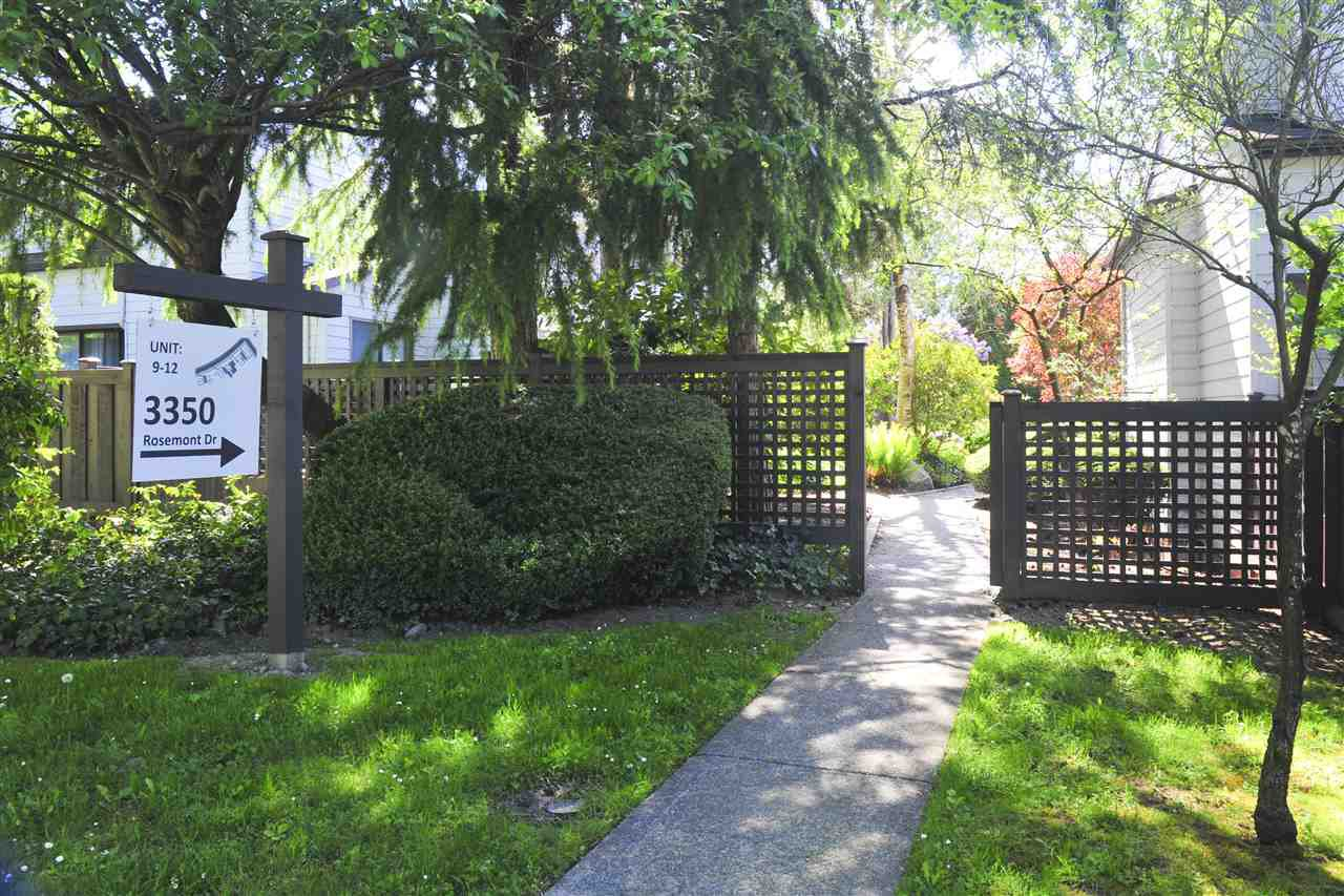Main Photo: 9 3350 ROSEMONT DRIVE in Vancouver: Champlain Heights Townhouse for sale (Vancouver East)  : MLS®# R2268996