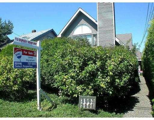 Main Photo: 2965 W 8TH AV in Vancouver: Kitsilano House 1/2 Duplex for sale (Vancouver West)  : MLS®# V548711