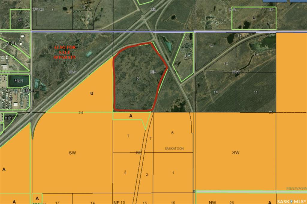 Main Photo: Highway 11 Land 74.78 ACRES in Corman Park: Commercial for sale (Corman Park Rm No. 344)  : MLS®# SK831026