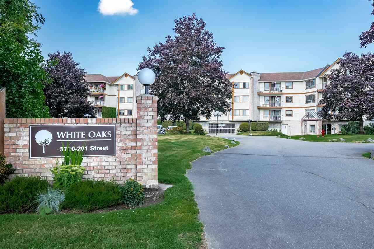 "Main Photo: 310 5710 201 Street in Langley: Langley City Condo for sale in ""White Oaks"" : MLS®# R2453667"