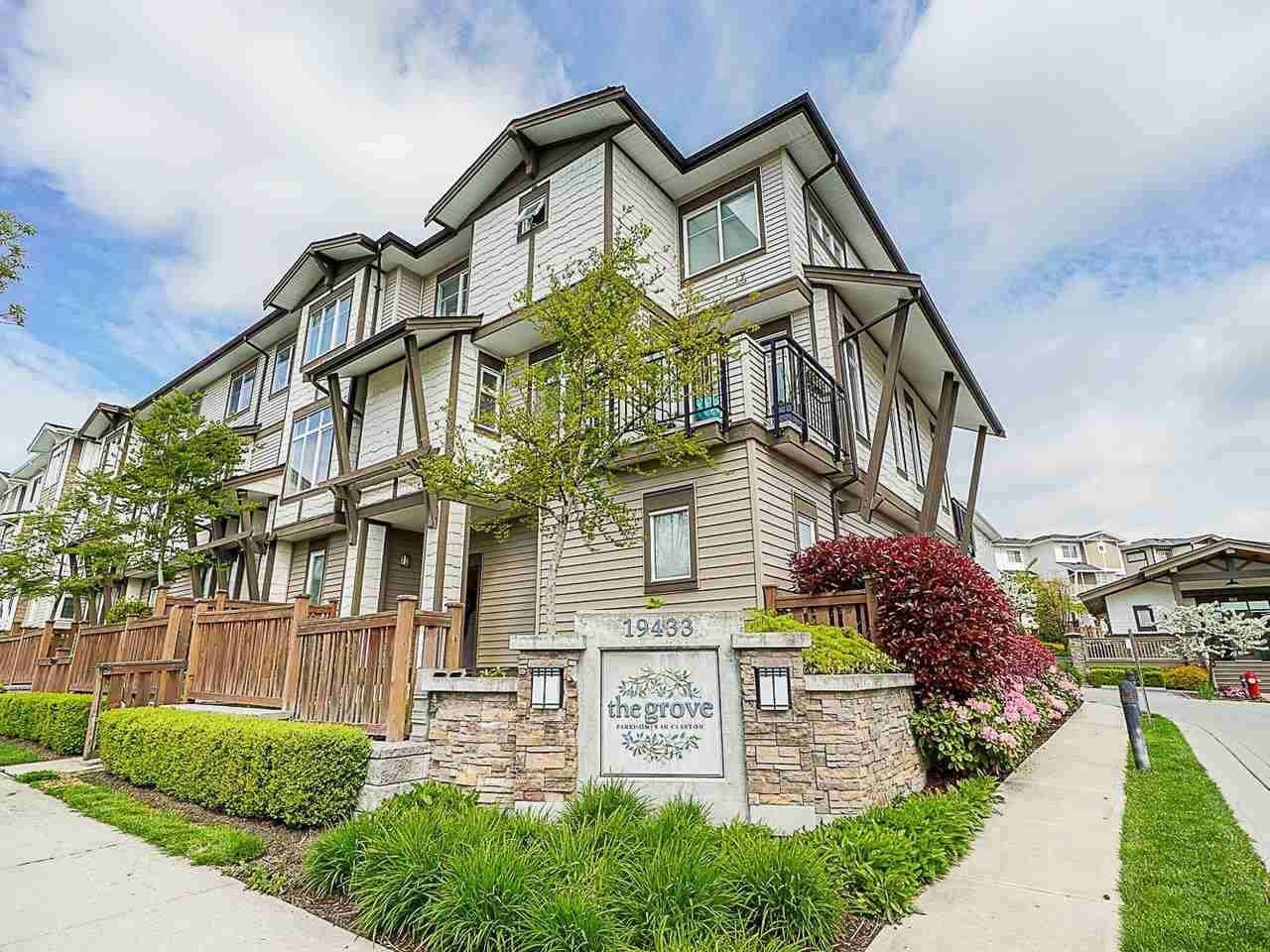 "Main Photo: 89 19433 68 Avenue in Surrey: Clayton Townhouse for sale in ""THE GROVE"" (Cloverdale)  : MLS®# R2454192"