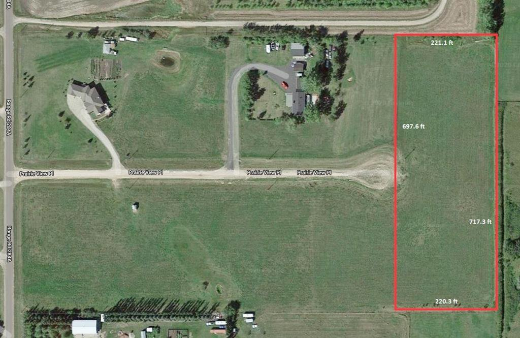 Main Photo: 12 PRAIRIE VIEW Place in Rural Rocky View County: Rural Rocky View MD Land for sale : MLS®# A1059192