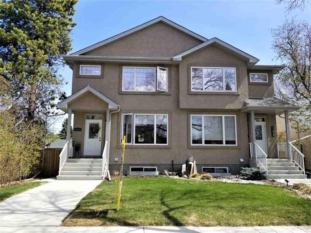 Main Photo: 11021 123 Street NW in Edmonton: House Half Duplex for rent