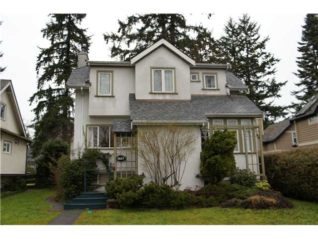 Main Photo: 3657 W 37TH AV in : Dunbar House for sale (Vancouver West)  : MLS®# V1051468