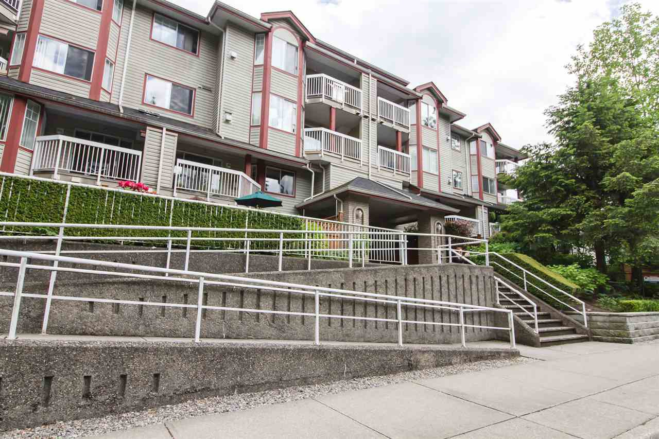 "Main Photo: 104 1215 PACIFIC Street in Coquitlam: North Coquitlam Condo for sale in ""PACIFIC PLACE"" : MLS®# R2470289"