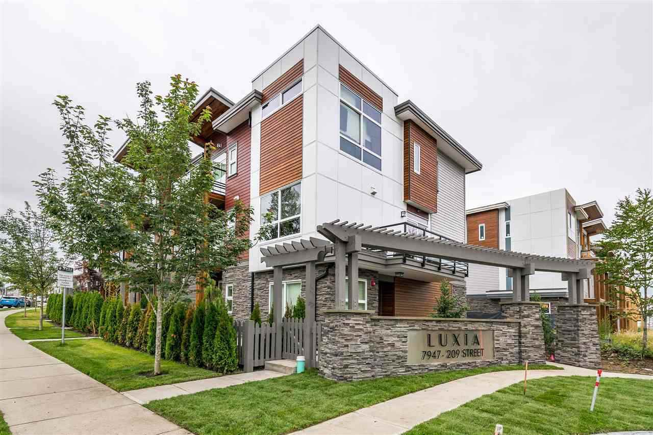 "Main Photo: 55 7947 209 Street in Langley: Willoughby Heights Townhouse for sale in ""Luxia"" : MLS®# R2483397"