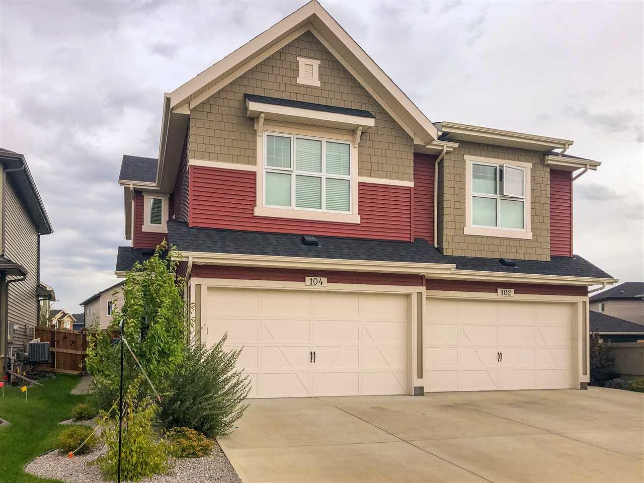 Main Photo: 104 AMBERLEY Way: Sherwood Park House Half Duplex for sale : MLS®# E4213385