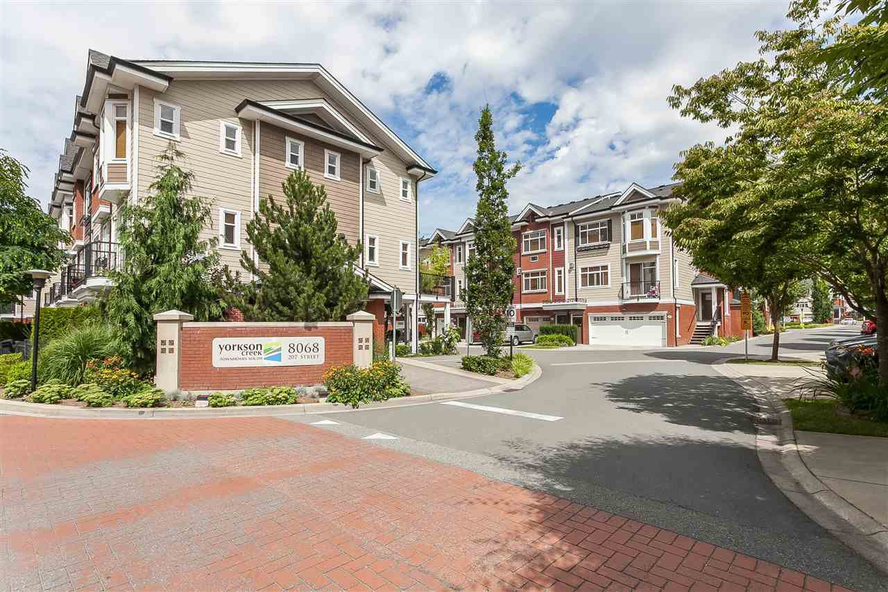 "Main Photo: 124 8068 207 Street in Langley: Willoughby Heights Townhouse for sale in ""YORKSON CREEK SOUTH"" : MLS®# R2477211"