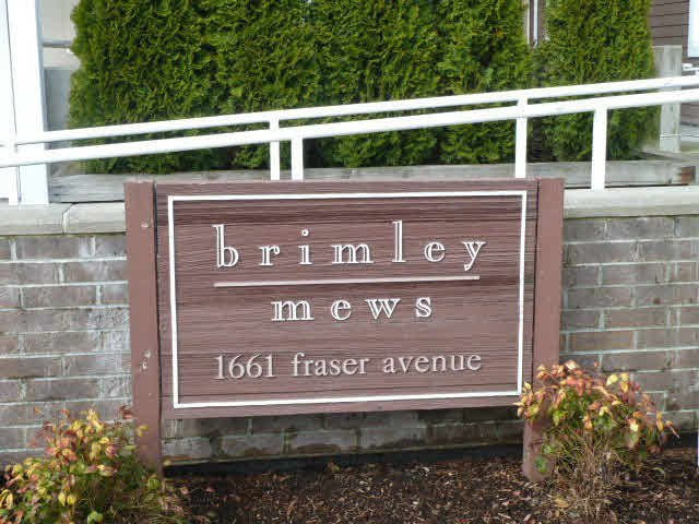 "Main Photo: 405 1661 FRASER Avenue in Port Coquitlam: Glenwood PQ Townhouse for sale in ""BRIMLEY MEWS"" : MLS®# V1081063"