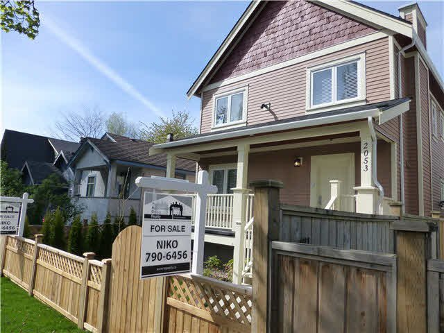Main Photo: 2053 E 1ST Avenue in Vancouver: Grandview VE House 1/2 Duplex for sale (Vancouver East)  : MLS®# V1078049