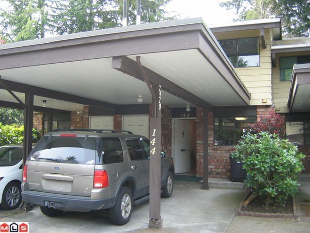 "Main Photo: 144 7470 138TH Street in Surrey: East Newton Townhouse for sale in ""GLENCOE ESTATES"" : MLS®# F1211032"