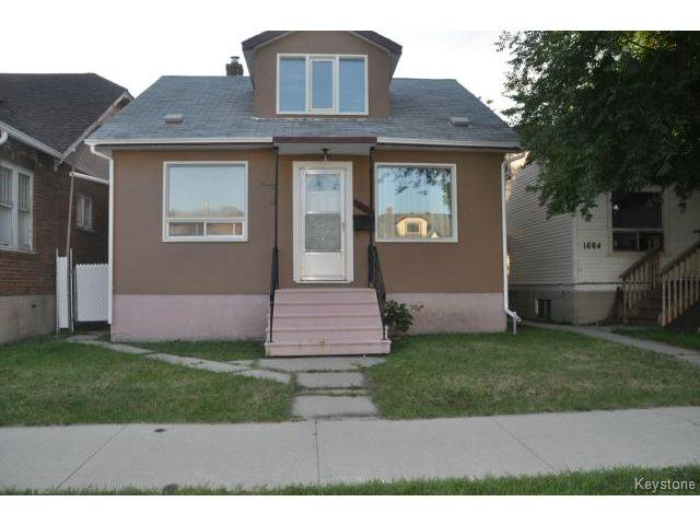Main Photo: 1660 Arlington Street in WINNIPEG: North End Residential for sale (North West Winnipeg)  : MLS®# 1318907