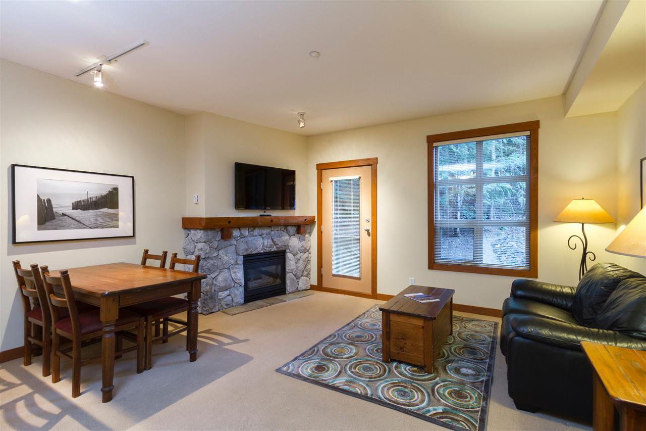 "Main Photo: 223 4660 BLACKCOMB Way in Whistler: Benchlands Condo for sale in ""LOST LAKE LODGE"" : MLS®# R2453365"