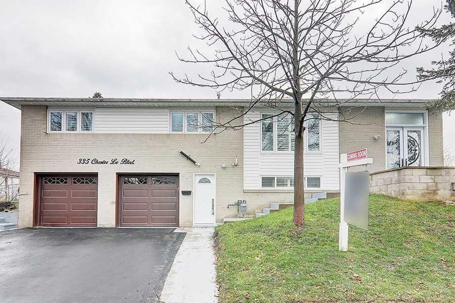 Main Photo: 335 Chester Le Boulevard in Toronto: L'Amoreaux House (Bungalow-Raised) for sale (Toronto E05)  : MLS®# E5069013