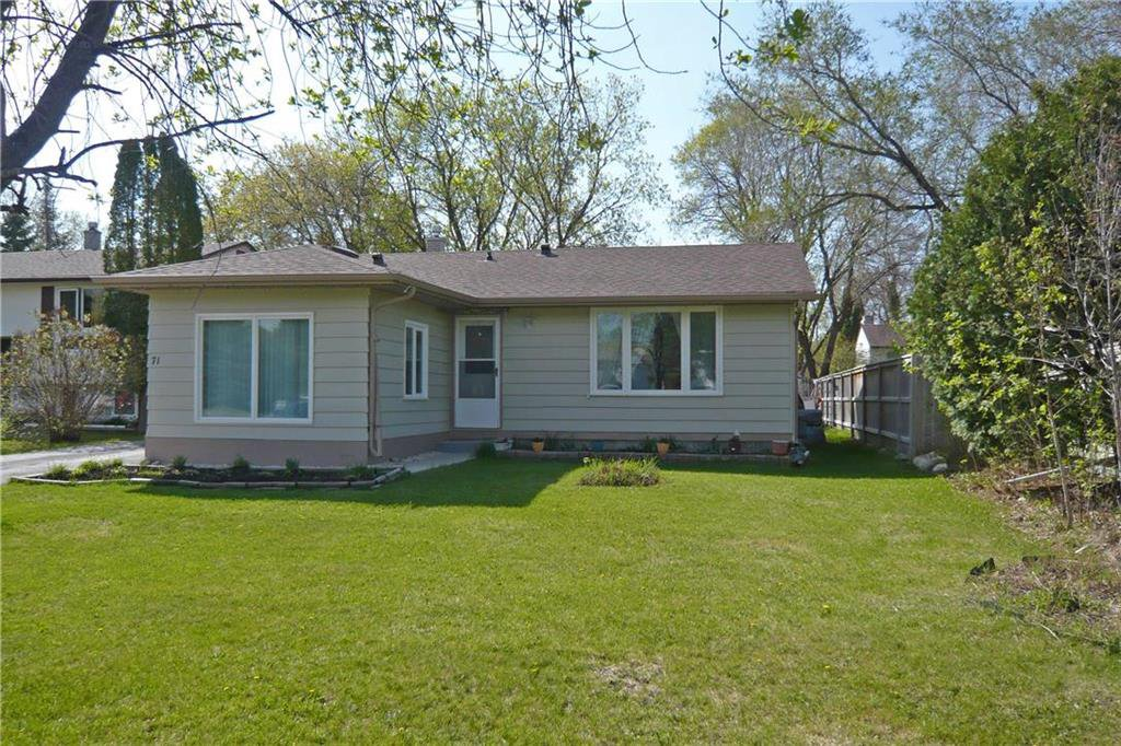 Main Photo: 71 Magdalene Bay in Winnipeg: Fort Richmond Residential for sale (1K)  : MLS®# 202010883
