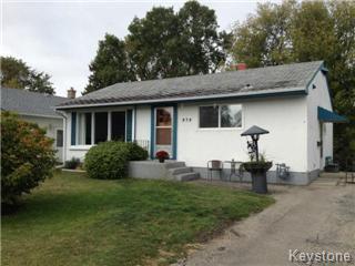 Main Photo: 434 Davidson Street in Winnipeg: Residential for sale : MLS®# 1219854