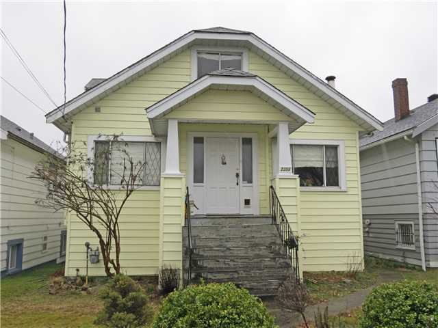 Main Photo: 2356 TURNER ST in Vancouver: Hastings House for sale (Vancouver East)  : MLS®# V1051723