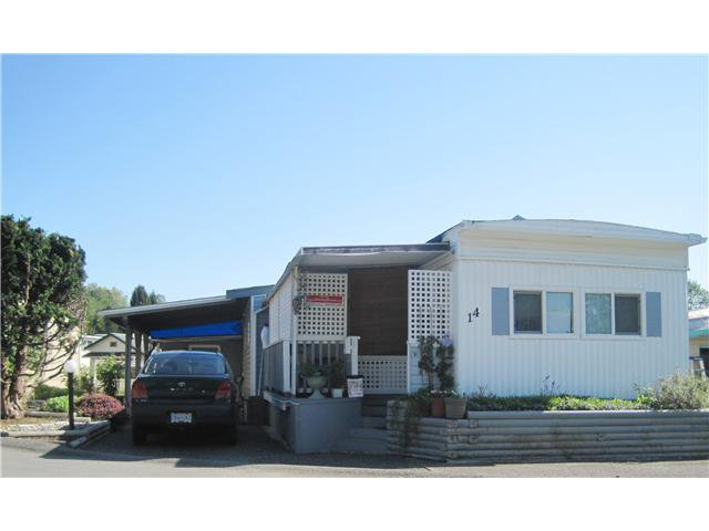 "Main Photo: 14 201 CAYER Street in Coquitlam: Maillardville Manufactured Home for sale in ""WILDWOOD PARK"" : MLS®# V1005641"
