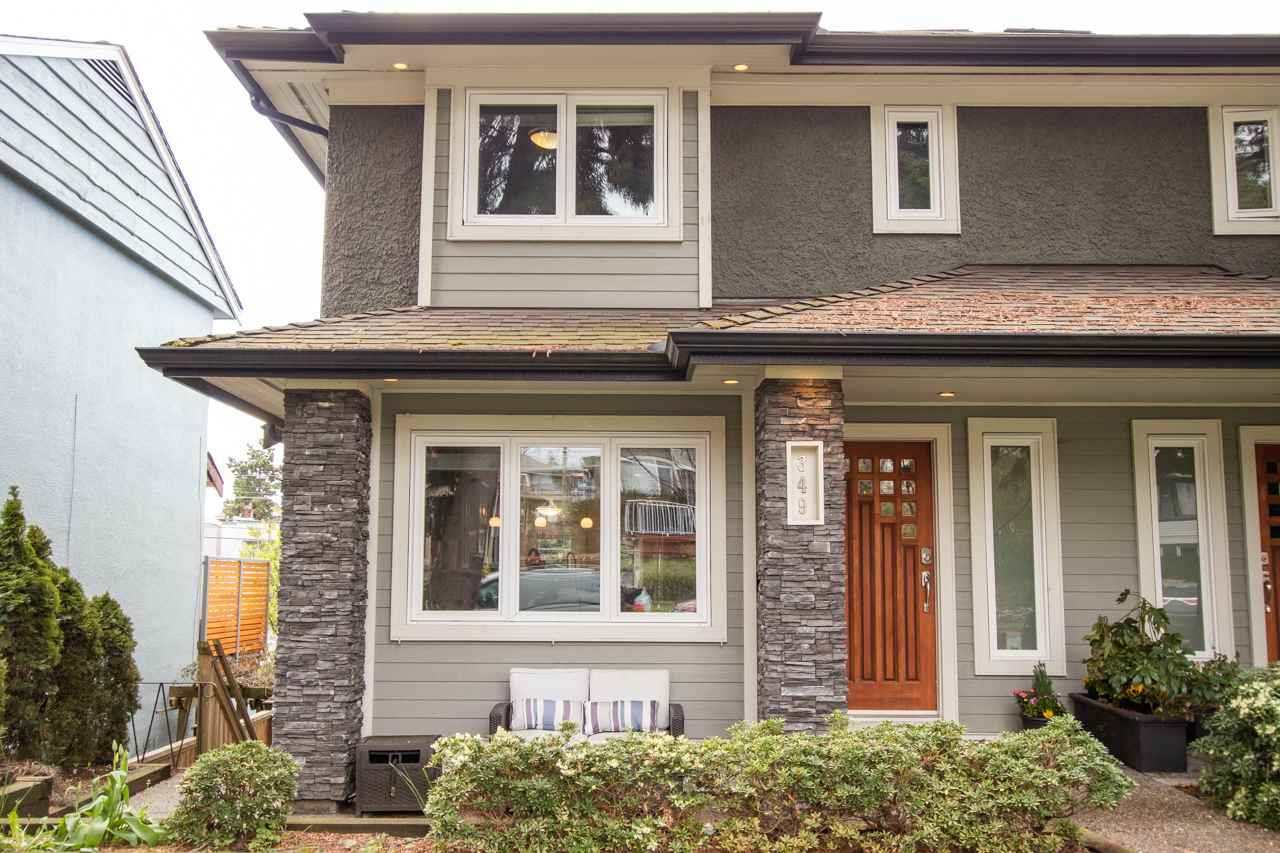 Main Photo: 349 E 4TH STREET in North Vancouver: Lower Lonsdale House 1/2 Duplex for sale : MLS®# R2357642