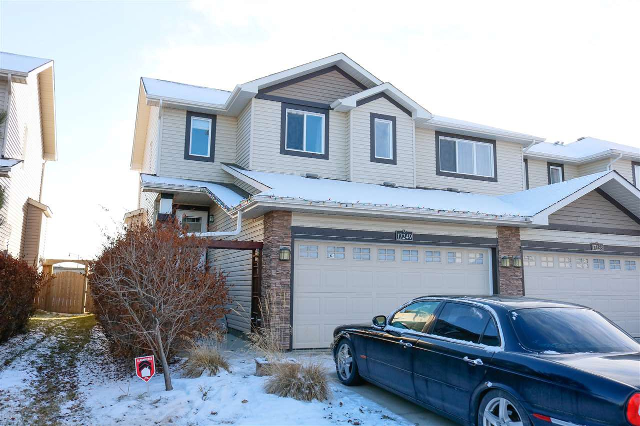 Main Photo: 17249 8A Avenue in Edmonton: Zone 56 House Half Duplex for sale : MLS®# E4181662