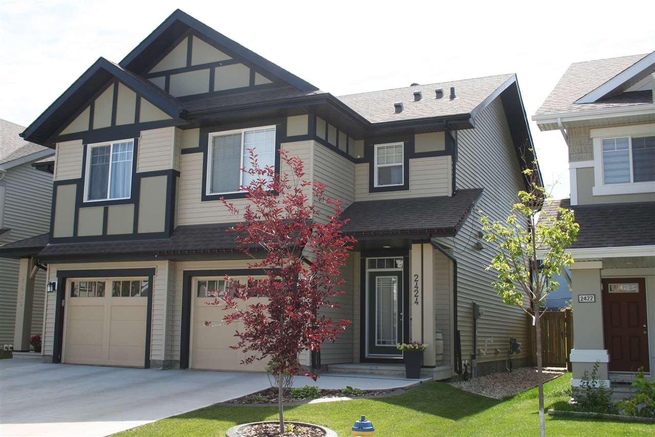 Main Photo: 2424 CASSIDY Way in Edmonton: Zone 55 House Half Duplex for sale : MLS®# E4166850