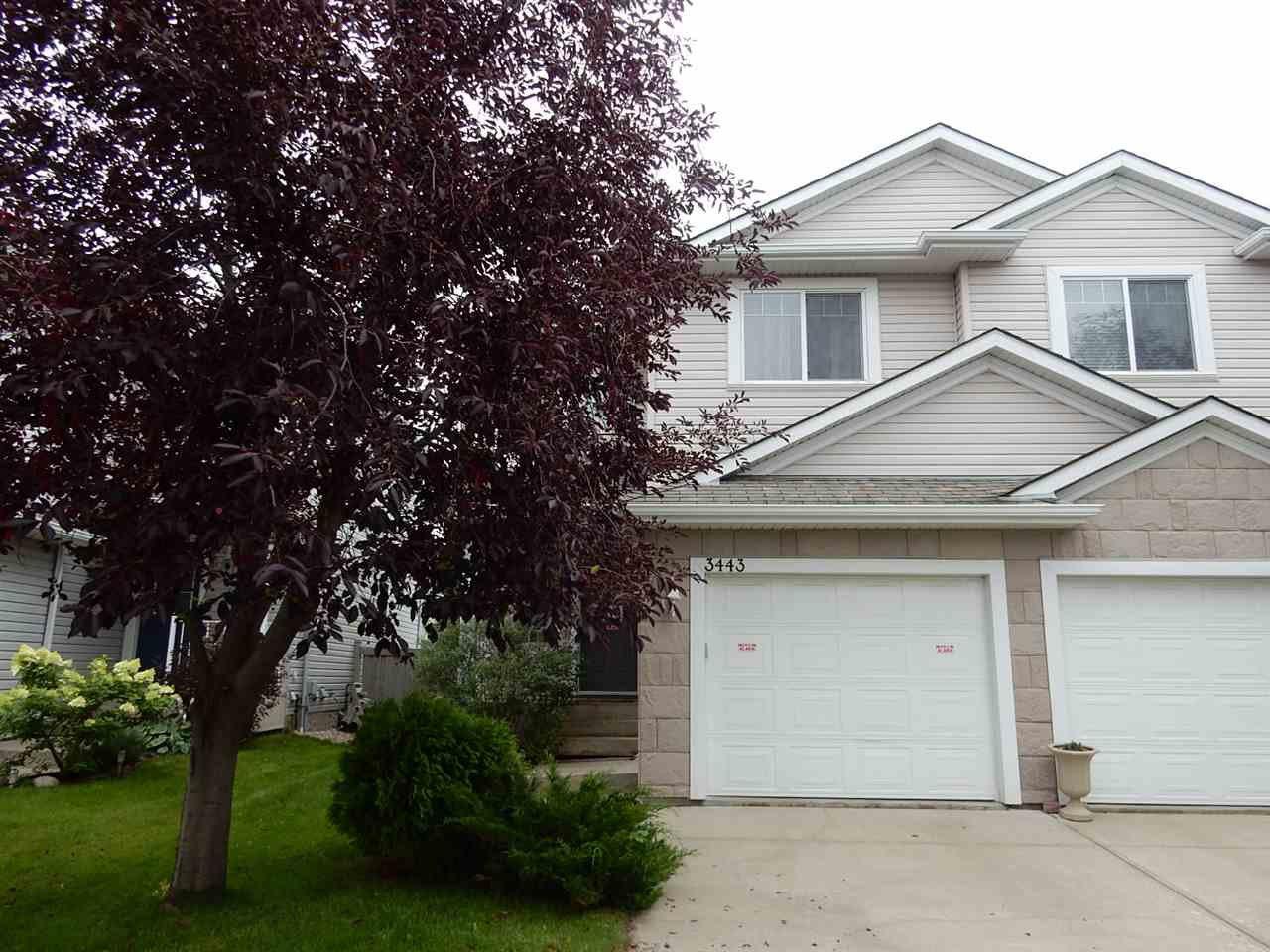 Main Photo: 3443 McKay Lane in Edmonton: Zone 55 House Half Duplex for sale : MLS®# E4173243