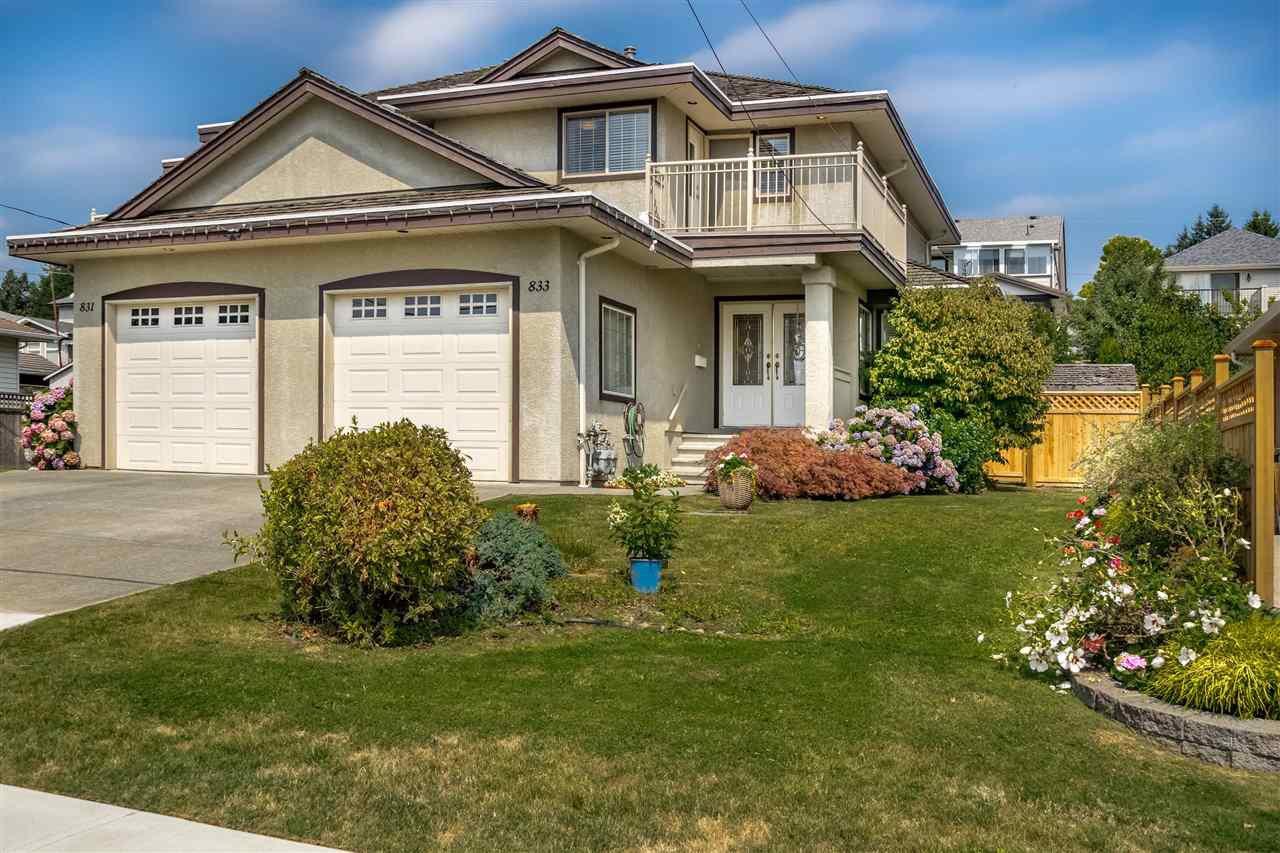 Photo 1: Photos: 833 QUADLING Avenue in Coquitlam: Coquitlam West House 1/2 Duplex for sale : MLS®# R2407327