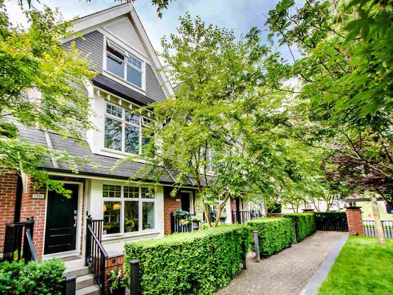 """Main Photo: 3808 WELWYN Street in Vancouver: Victoria VE Townhouse for sale in """"Stories"""" (Vancouver East)  : MLS®# R2467996"""