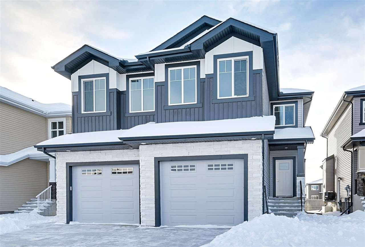 Main Photo: 17717 13 Avenue in Edmonton: Zone 56 House Half Duplex for sale : MLS®# E4185789
