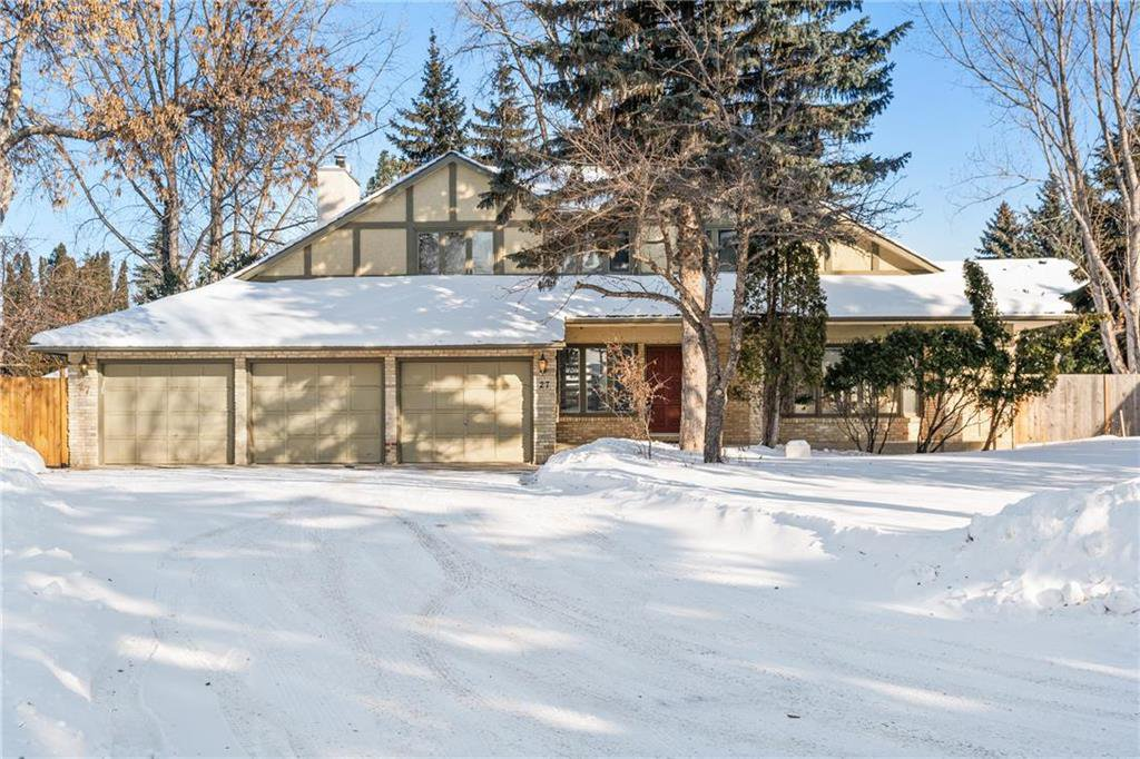 Main Photo: 27 Driscoll Crescent in Winnipeg: Tuxedo Residential for sale (1E)  : MLS®# 202003799