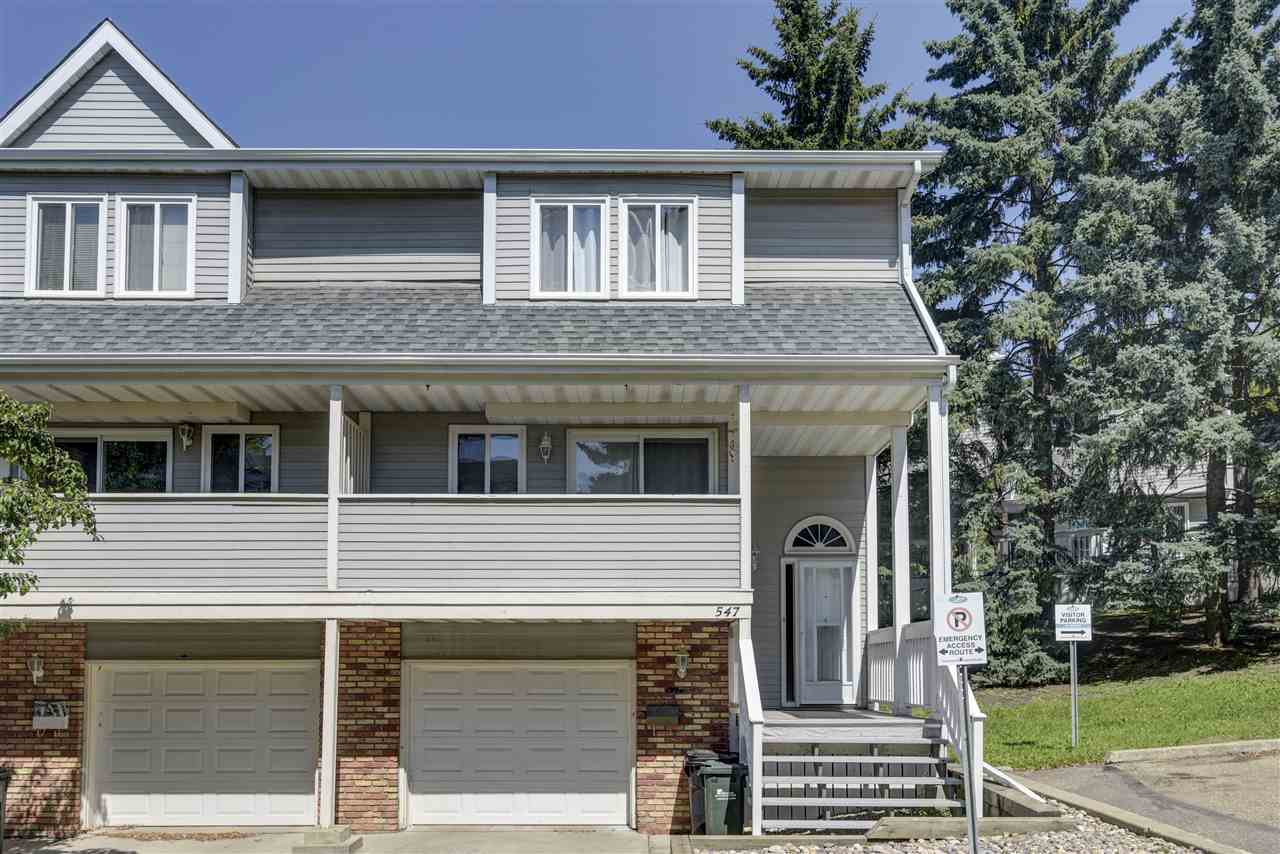 Main Photo: 547 Woodbridge Way: Sherwood Park Townhouse for sale : MLS®# E4208341