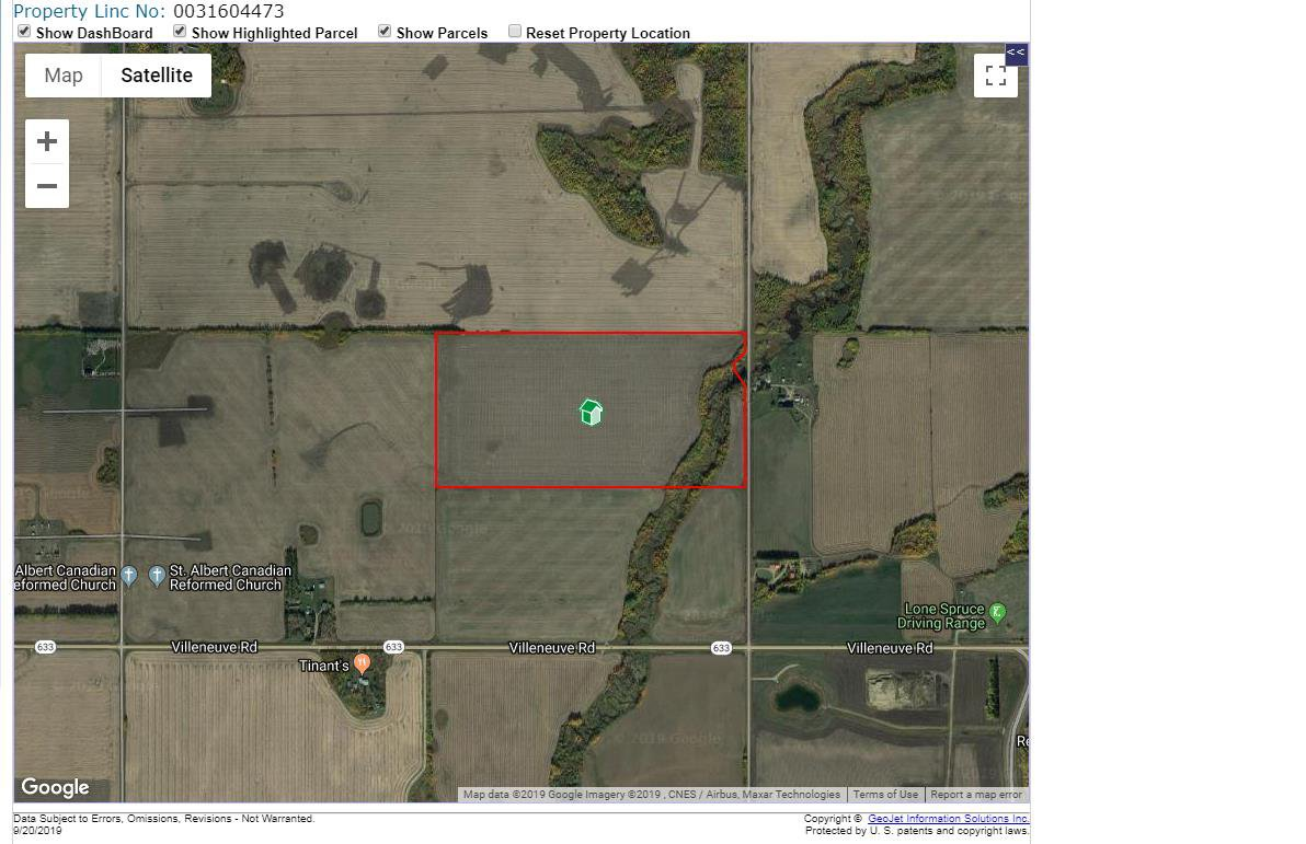 Main Photo: : Rural Sturgeon County Rural Land/Vacant Lot for sale : MLS®# E4174026