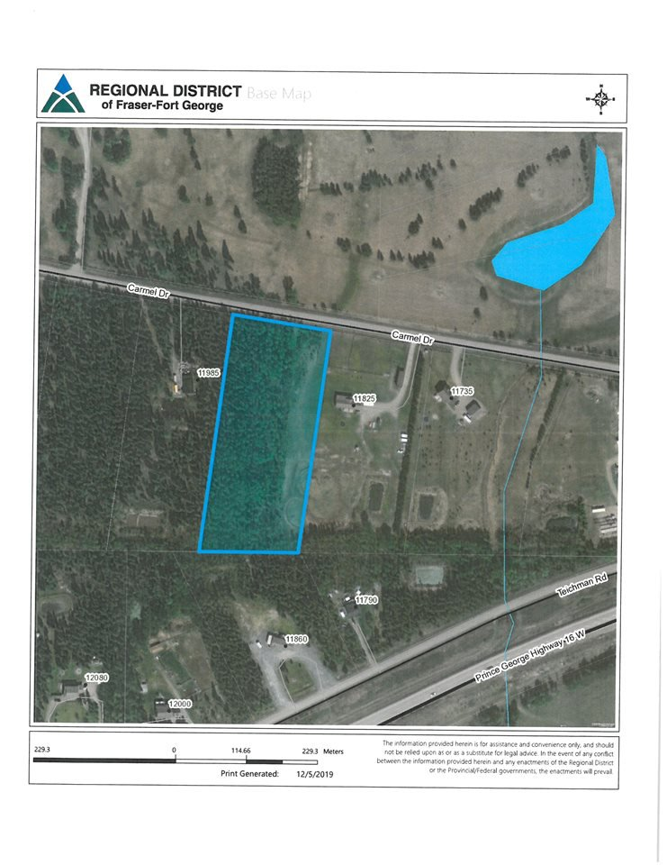 Main Photo: LOT 4 CARMEL Drive in Prince George: Beaverley Land for sale (PG Rural West (Zone 77))  : MLS®# R2423400
