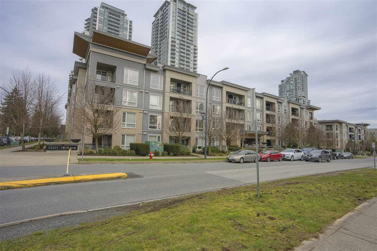 """Main Photo: 413 13321 102A Avenue in Surrey: Whalley Condo for sale in """"Agenda"""" (North Surrey)  : MLS®# R2445084"""