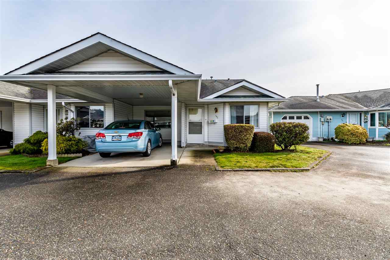 "Main Photo: 122 7610 EVANS Road in Chilliwack: Sardis West Vedder Rd Townhouse for sale in ""Cottonwood Retirement Village"" (Sardis)  : MLS®# R2441700"