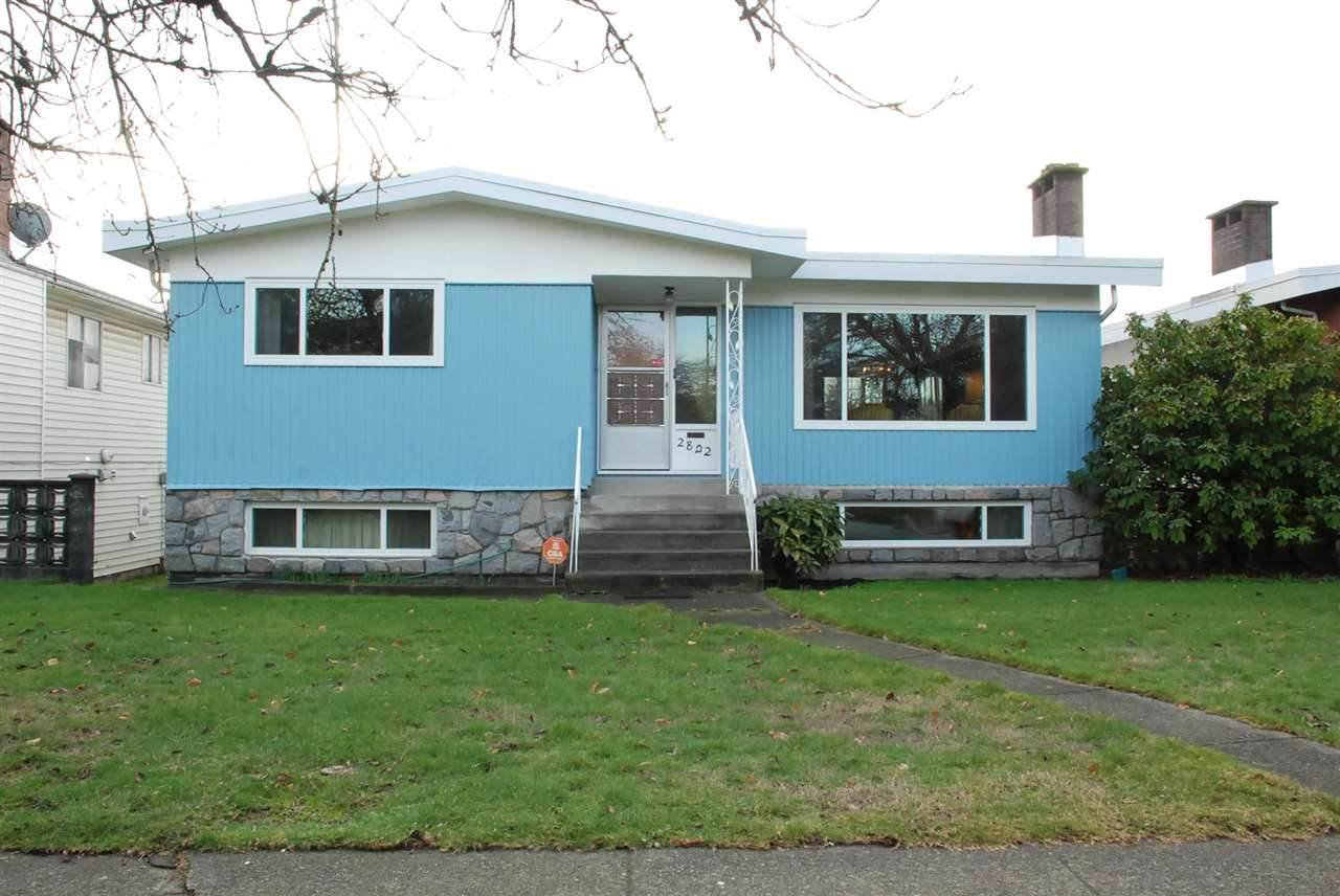 "Main Photo: 2822 E 54TH Avenue in Vancouver: Fraserview VE House for sale in ""FRASERVIEW"" (Vancouver East)  : MLS®# R2479728"