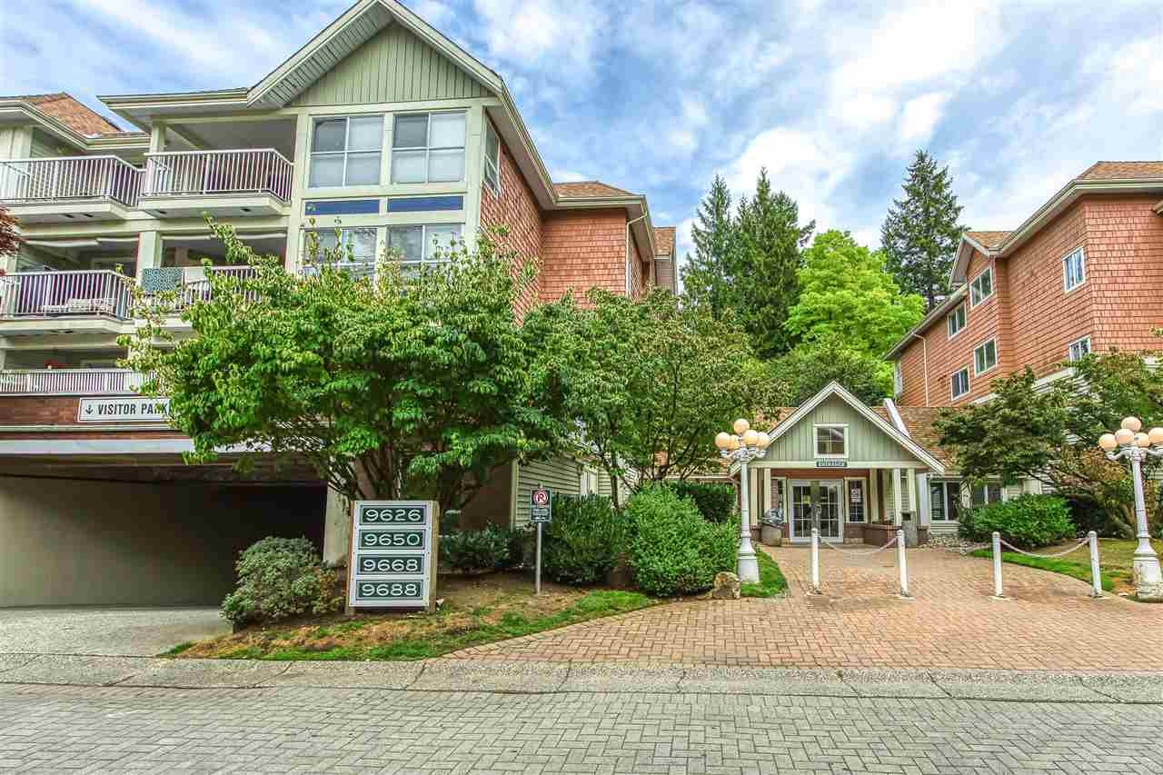 "Main Photo: 121 9688 148 Street in Surrey: Guildford Condo for sale in ""Hartford Woods"" (North Surrey)  : MLS®# R2488896"