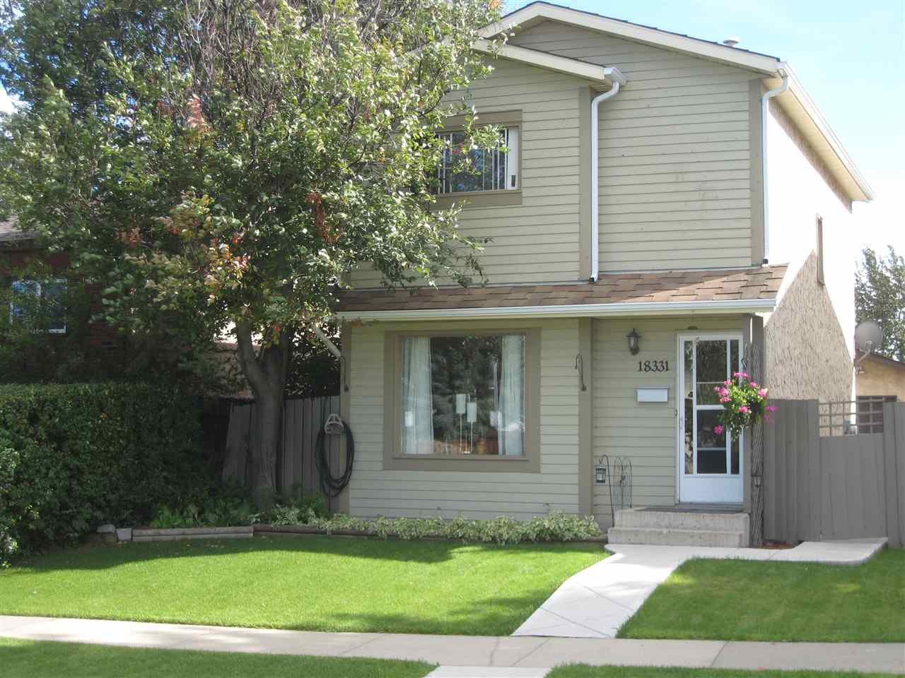 Main Photo: 18331 76 Avenue in Edmonton: Zone 20 House for sale : MLS®# E4181515
