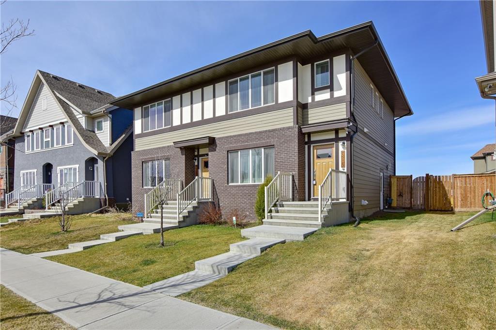 Main Photo: 615 MAHOGANY Boulevard SE in Calgary: Mahogany Semi Detached for sale : MLS®# C4294520