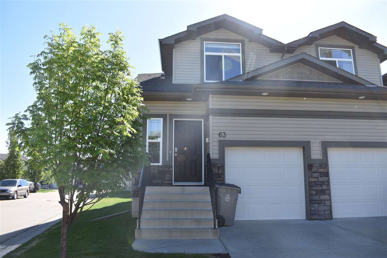 Main Photo: 63 9511 102 Avenue: Morinville Townhouse for sale : MLS®# E4199986
