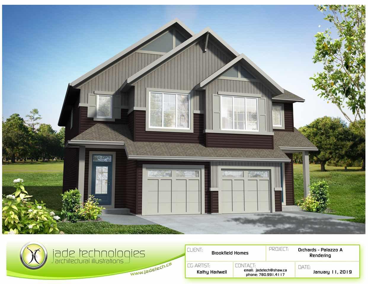 Main Photo: 7536 Elmer Bend in Edmonton: Zone 57 House Half Duplex for sale : MLS®# E4217371