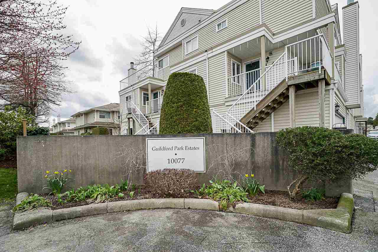 "Main Photo: 155 10077 156 Street in Surrey: Guildford Townhouse for sale in ""Guildford Park Estate"" (North Surrey)  : MLS®# R2447053"