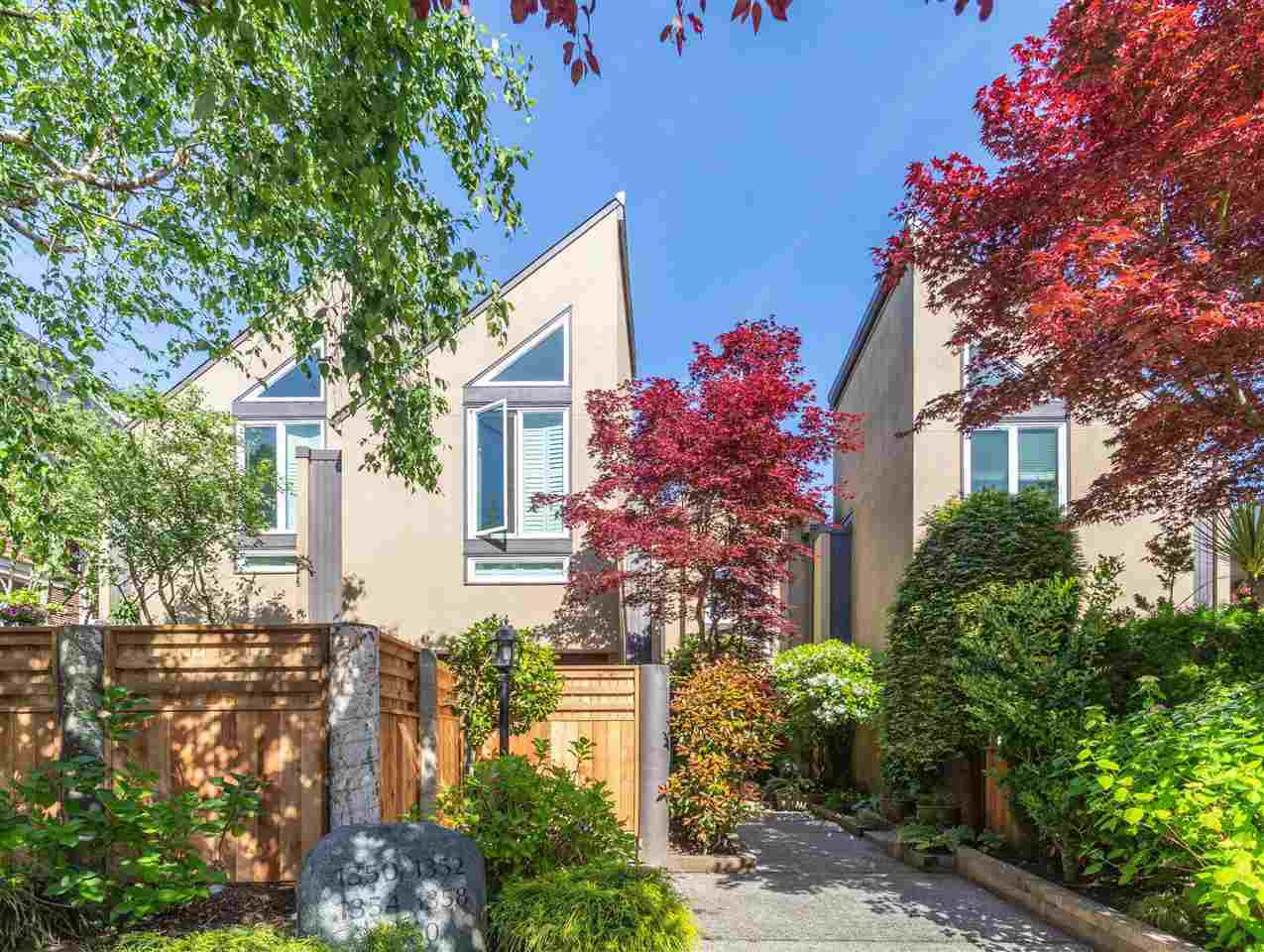 Main Photo: 1358 CYPRESS STREET in Vancouver: Kitsilano Townhouse for sale (Vancouver West)  : MLS®# R2459445