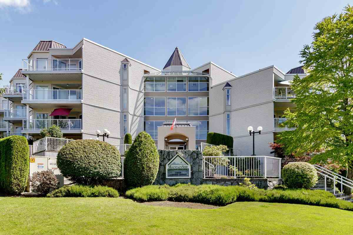 "Main Photo: 302 1219 JOHNSON Street in Coquitlam: Canyon Springs Condo for sale in ""MOUNTAIN SIDE"" : MLS®# R2476162"