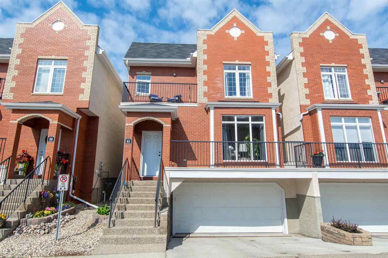 Main Photo: 61 8403 164 Avenue in Edmonton: Zone 28 Townhouse for sale : MLS®# E4165209