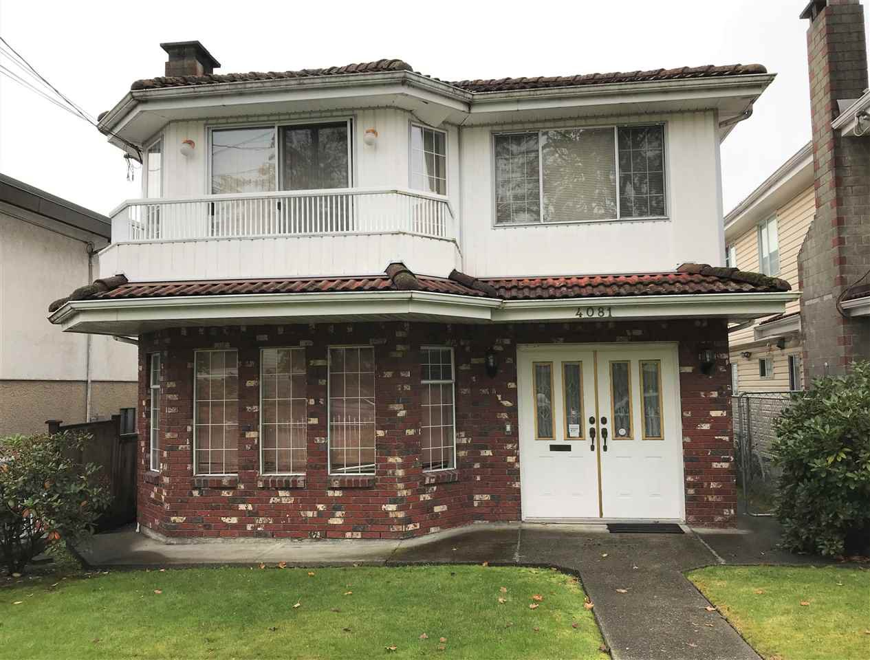 Main Photo: 4081 WELWYN Street in Vancouver: Victoria VE House for sale (Vancouver East)  : MLS®# R2414776
