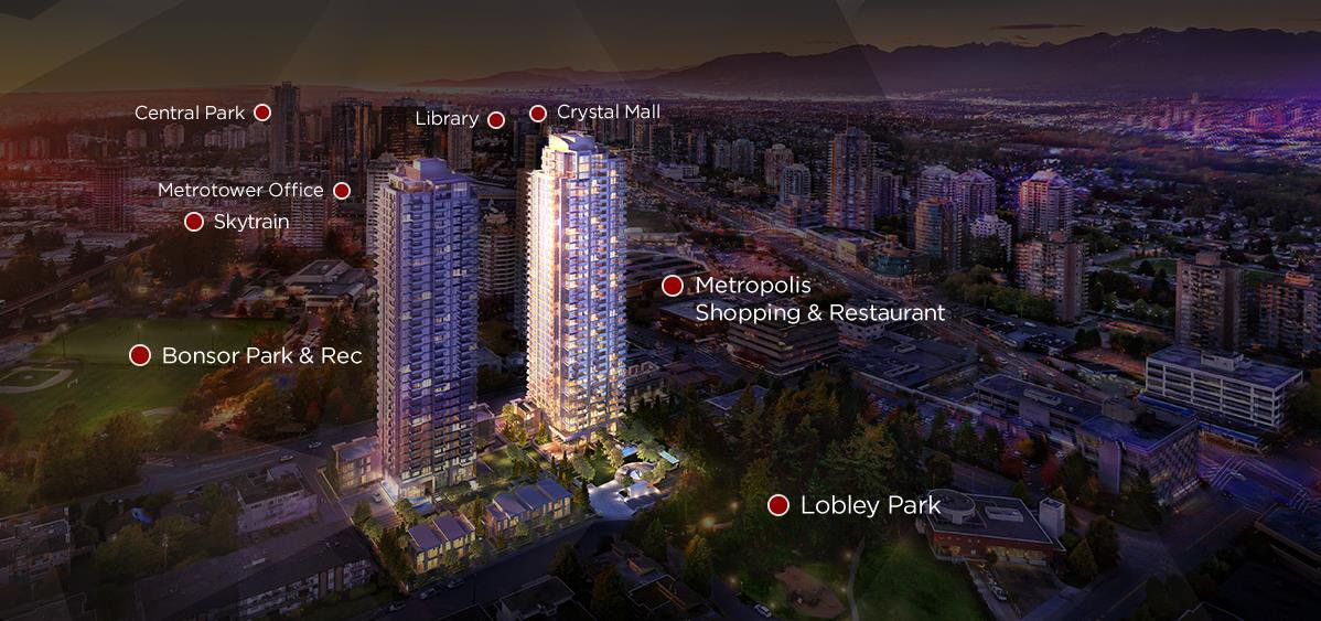 """Main Photo: 2910 6538 NELSON Avenue in Burnaby: Metrotown Condo for sale in """"NET2"""" (Burnaby South)  : MLS®# R2509932"""