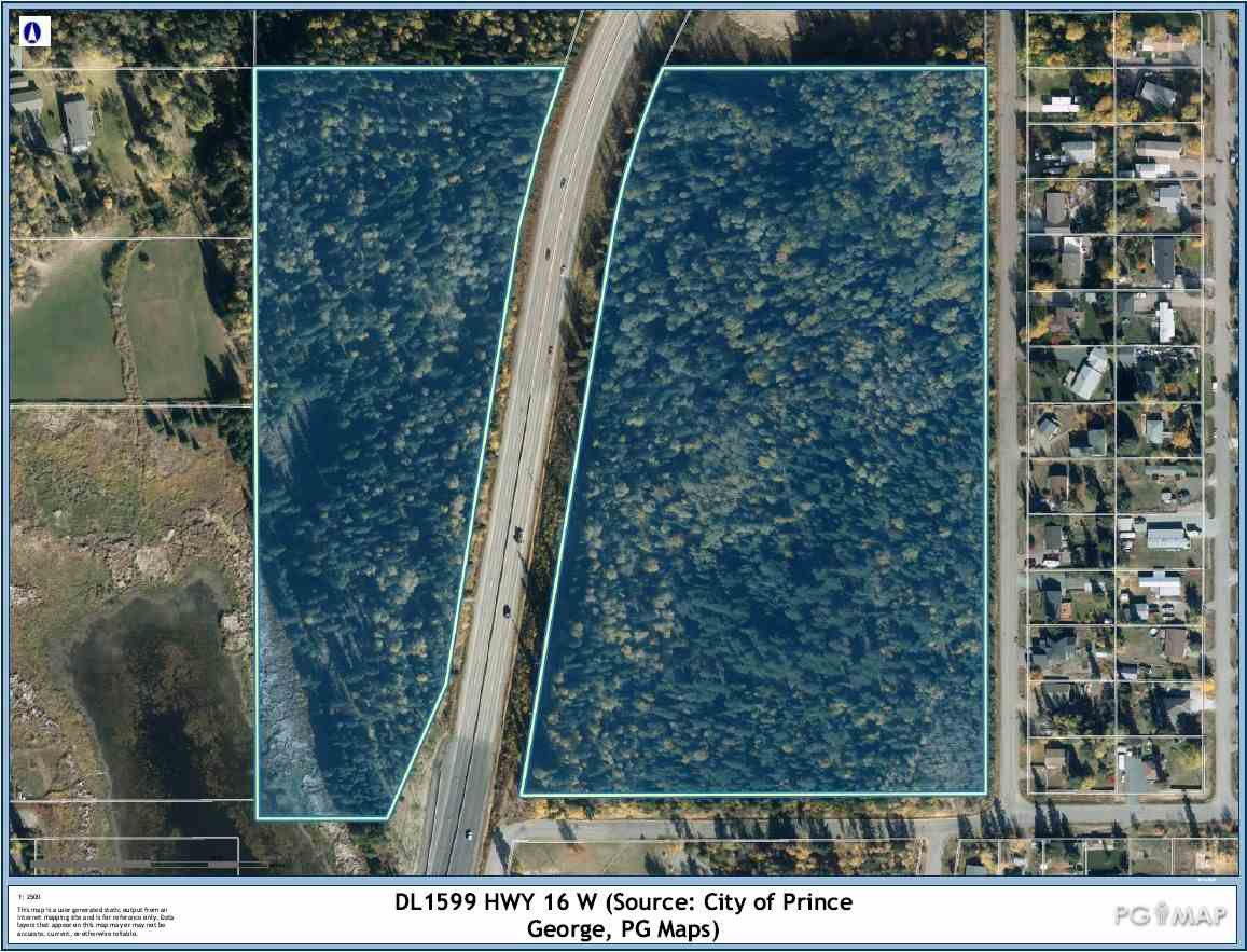 Main Photo: DL 1599 W 16 Highway in Prince George: Lafreniere Land Commercial for sale (PG City South (Zone 74))  : MLS®# C8034705