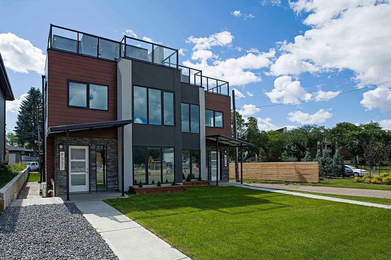 Main Photo: 9327 CONNORS Road in Edmonton: Zone 18 House Half Duplex for sale : MLS®# E4207248
